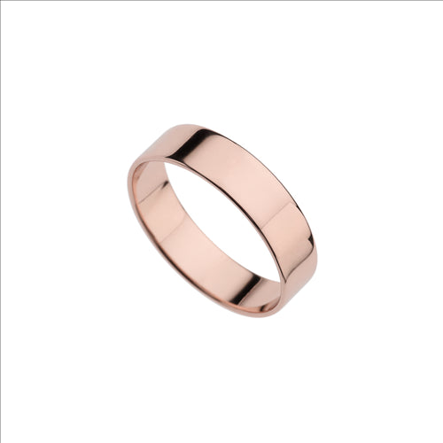 5MM STERLING SILVER & ROSE GOLD FLAT BAND LRG