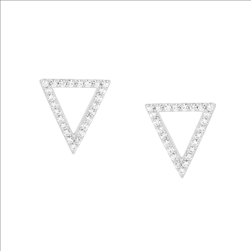 WH CUBIC ZIRCONIA TRIANGLE EARRING