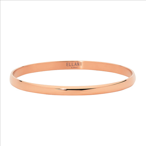 STAINLESS STEEL ROSE GOLD IP PLATING 5MM BANGLE