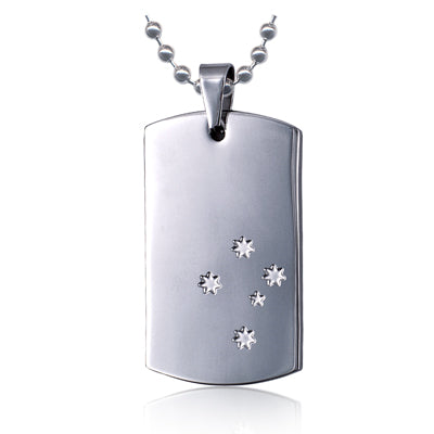 ST STEEL STH CROSS DOG TAG & CHAIN