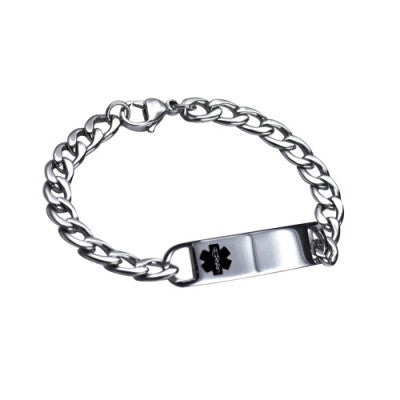 S/STEEL MEDICAL ID BRACELET 18CM