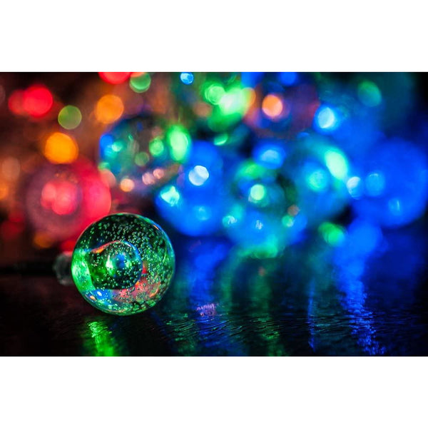 35 Solar Powered Crystal Ball LED Lights - Multi-Colour