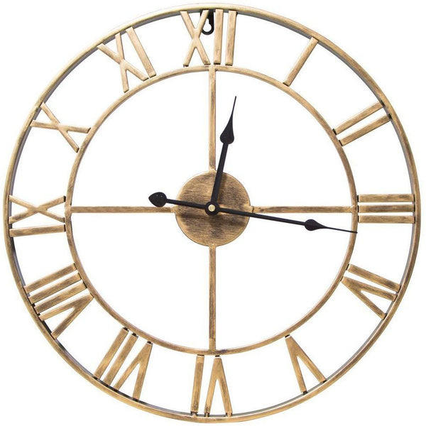 Traditional Vintage Style Roman Wall Clock 40cm - Gold