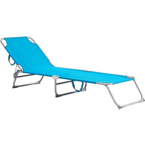 Foldable Sun Lounger With Adjustable Back