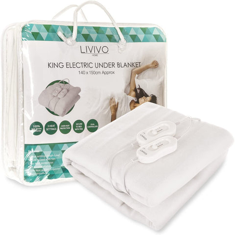Deluxe King Electric Blanket With Dual LED Controller