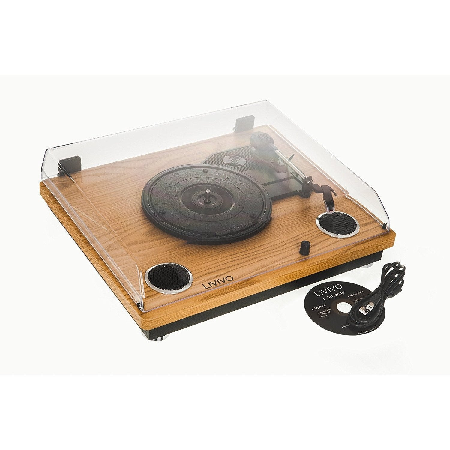 WOODEN LP TURNTABLE
