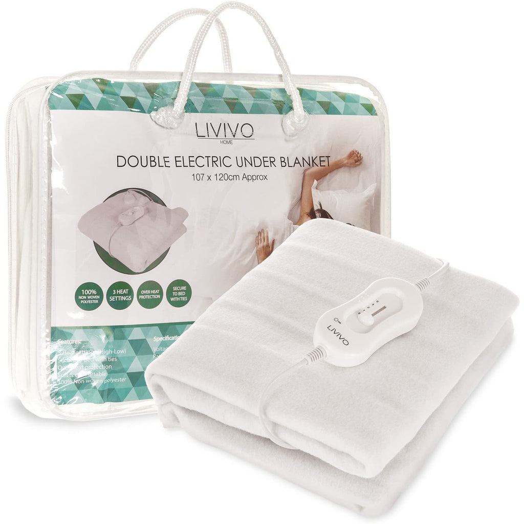 Deluxe Double Electric Blanket With Dual LED Controller