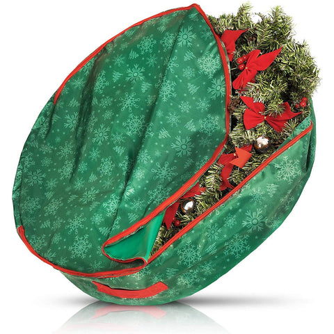 Premium Christmas Wreath Storage Bag Organiser