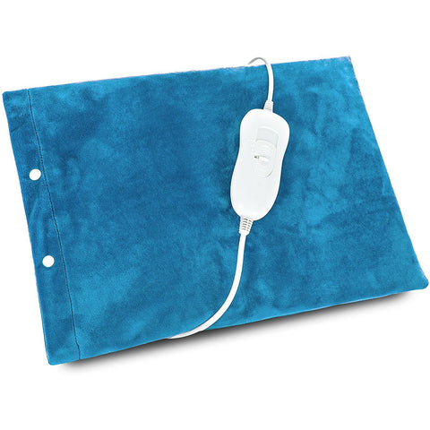 Blue Electric Heated Fleece Thermal Heat Pad