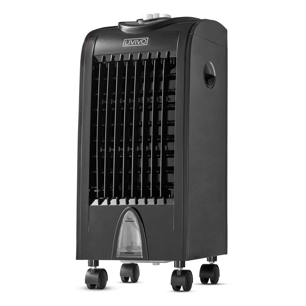 4L Black Air Cooler with Ice Boxes - LIVIVO