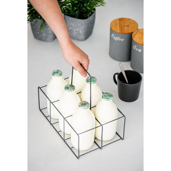 LIVIVO 6 Milk Bottles Wire Holder