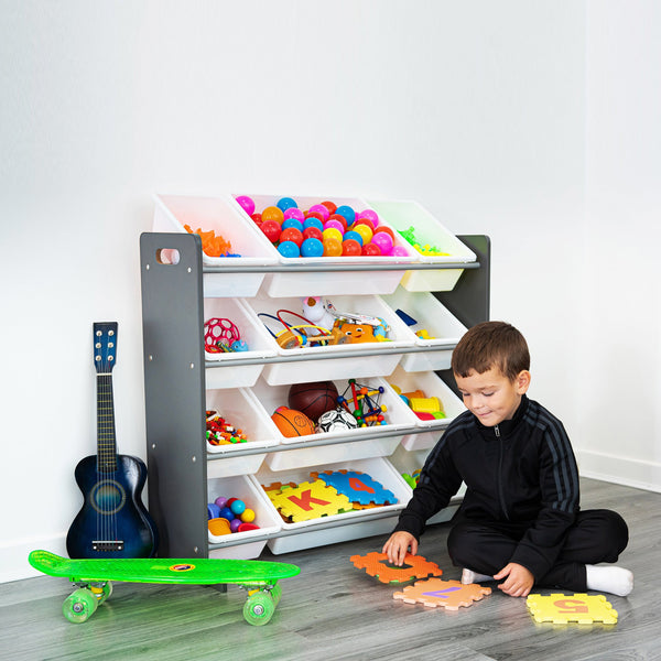 4 Tier Kid's Storage Rack for Books & Toys