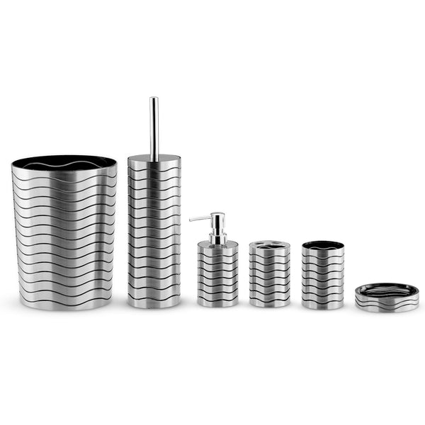 Titanium Wave 6 Piece Bathroom Set