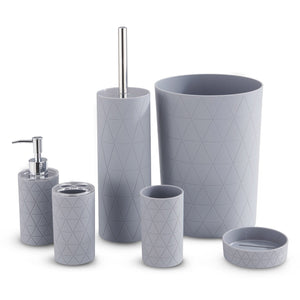 Grey Geo 6 Pc Bathroom Set