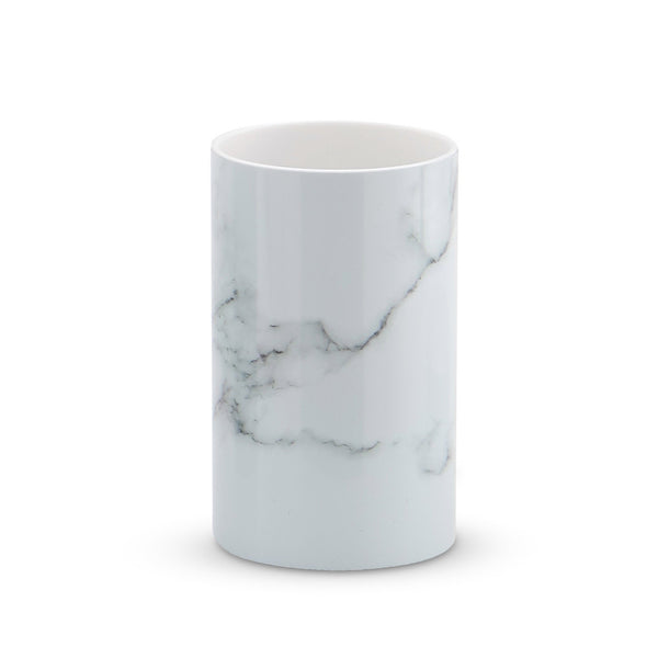 White Marble 6 Piece Bathroom Set