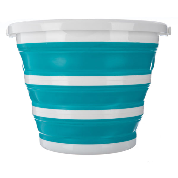 Collapsible Bucket With Handle - Turquoise