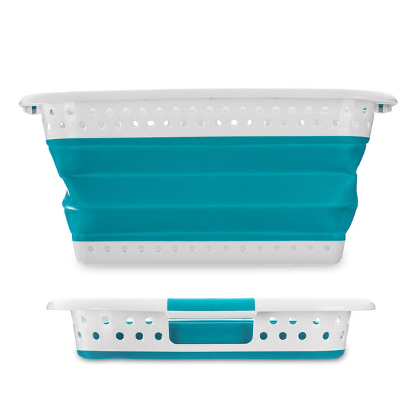 Collapsible Laundry Basket - Turquoise