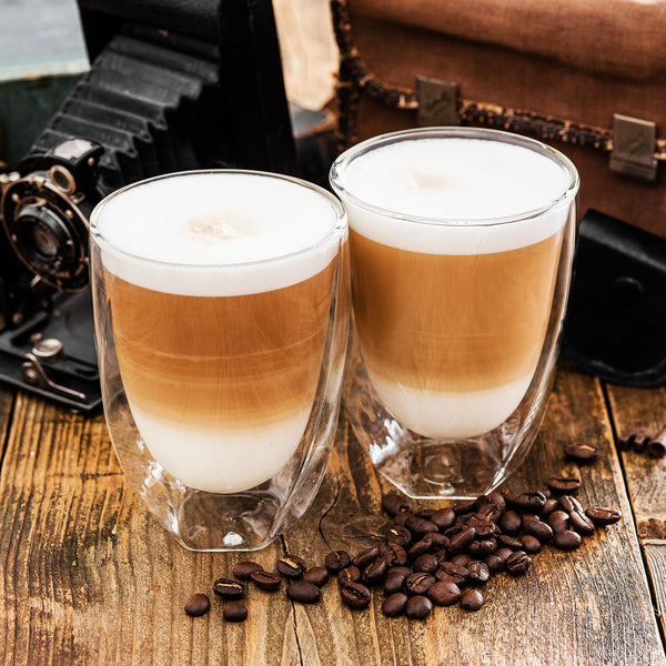 Set Of 2 Double Wall 'Twist' Coffee Mugs