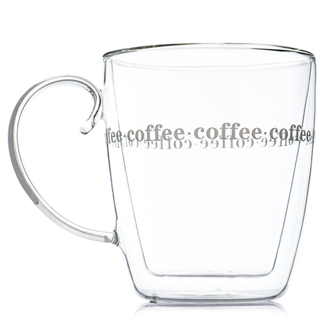 Large Double Wall Coffee Mug With Handle