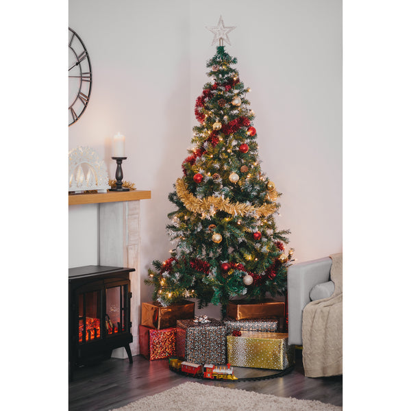 5ft Realistic Artificial Christmas Tree With Snow & Pine Cones