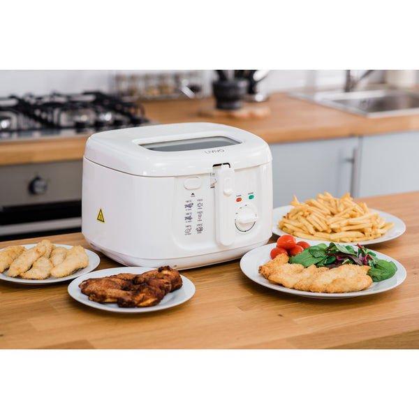2.5L Electric Deep Fat Fryer Non-Stick Coating- White