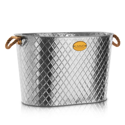 Galvanised Steel 24L Ice Cool Bucket