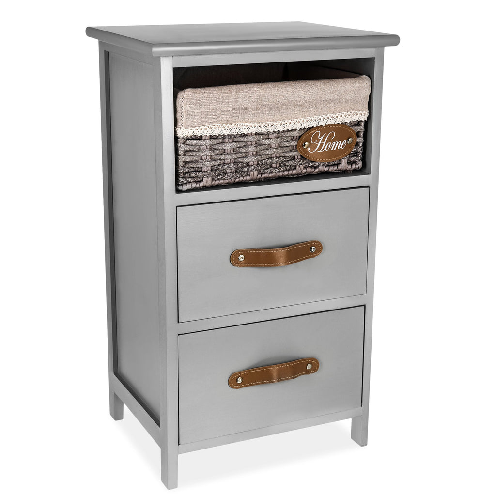'Mars' Bedside Cabinet Double Drawer