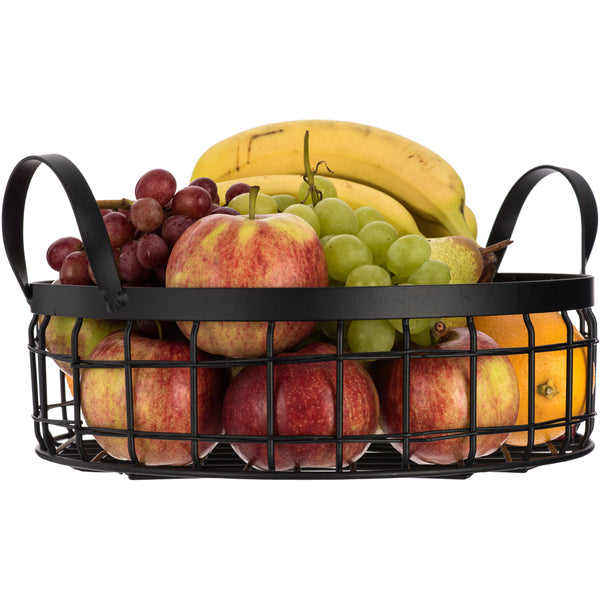 Fruit & Vegetable Holder Basket Matt Black
