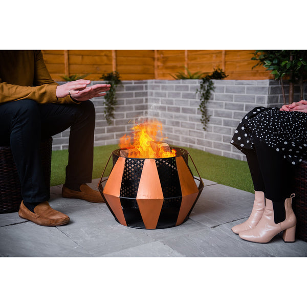 LIVIVO Sunburst Design Fire Pit