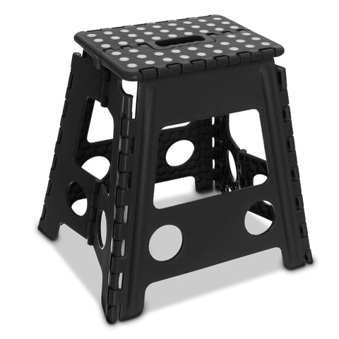 Premium Foldable Step Stool Black