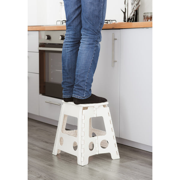 Premium Foldable Step Stool White