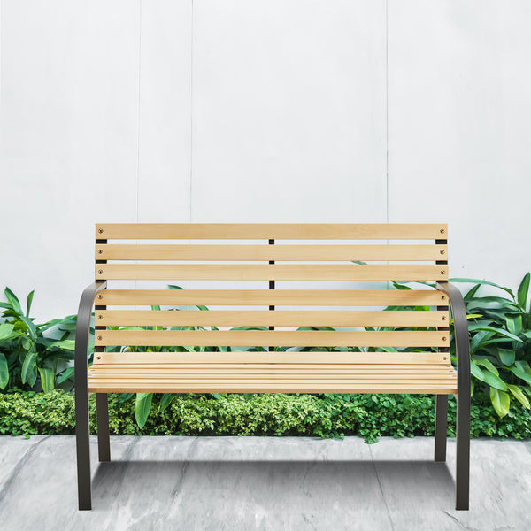 Cast Iron and Wooden Slat Garden Bench