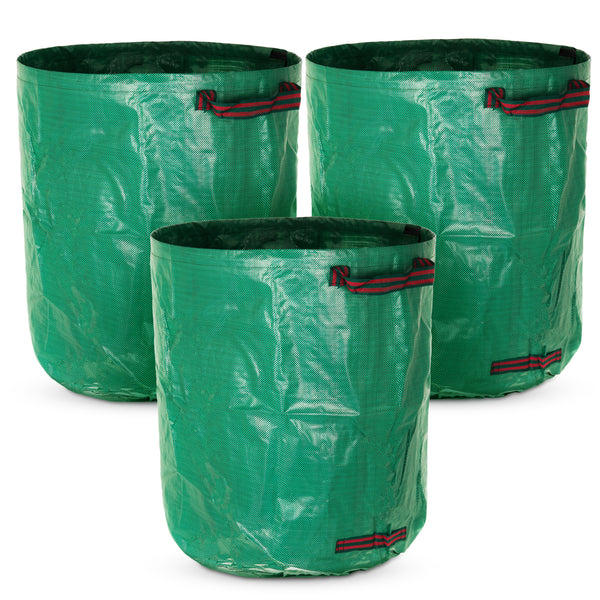 Set of 3 272L Premium Heavy Duty Reusable Waste Bags with Handles