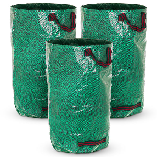 Set of 3 120L Premium Heavy Duty Reusable Waste Bags with Handles