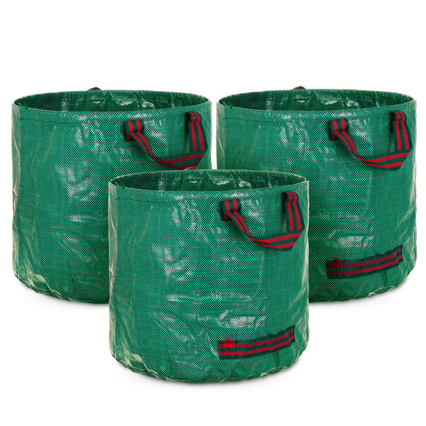 Set of 3 60L Premium Heavy Duty Reusable Waste Bags With Handles