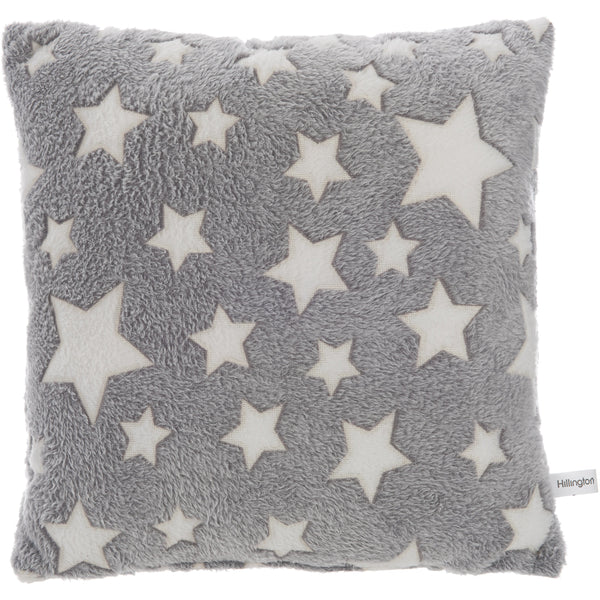 Glow In The Dark Grey Star Cushion