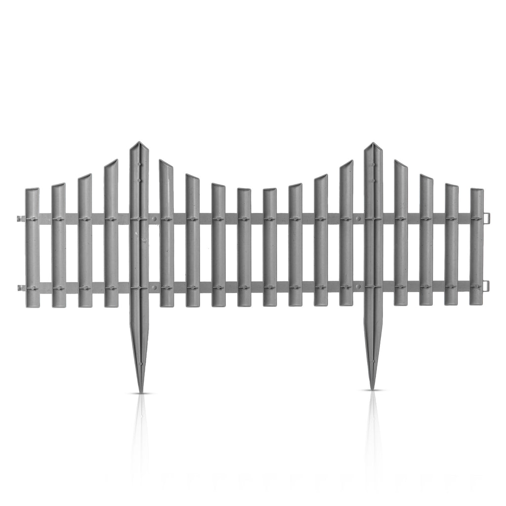 Grey Picket Fence Wooden Effect