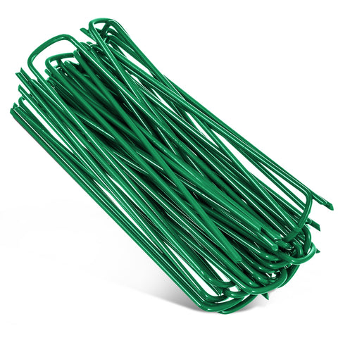 Heavy Duty Green U-Shaped Tent Pegs