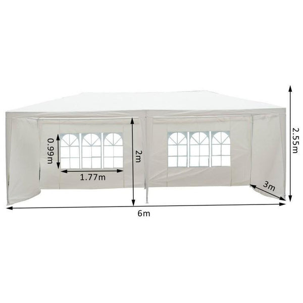 Extra Large Party Gazebo With Waterproof Canopy
