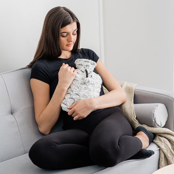 2L Two-Tone Pebble Hot Water Bottle with Removable Cover
