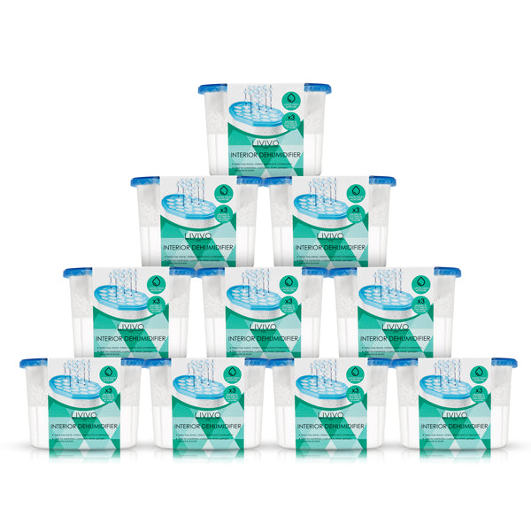 Pack of 10 Interior Disposable Dehumidifiers