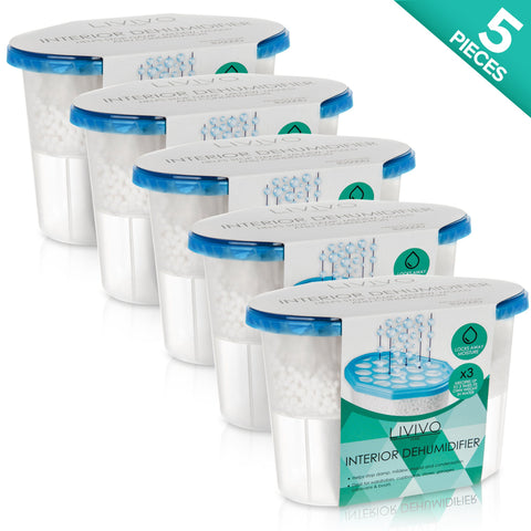 Pack of 5 Interior Disposable Dehumidifiers