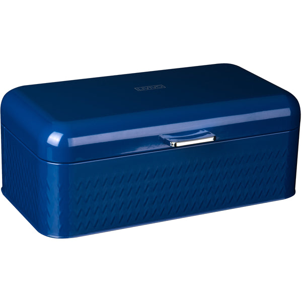 Taurus Bread Bin Tea Coffee & Sugar Storage Set - Navy