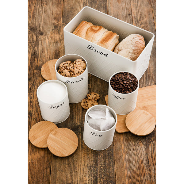 5pc Kitchen Storage Set - Cream