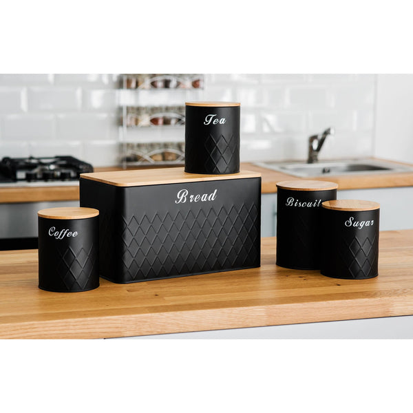 5pc Kitchen Storage Set - Black