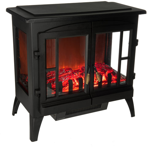 Large Panoramic Log Effect Heater