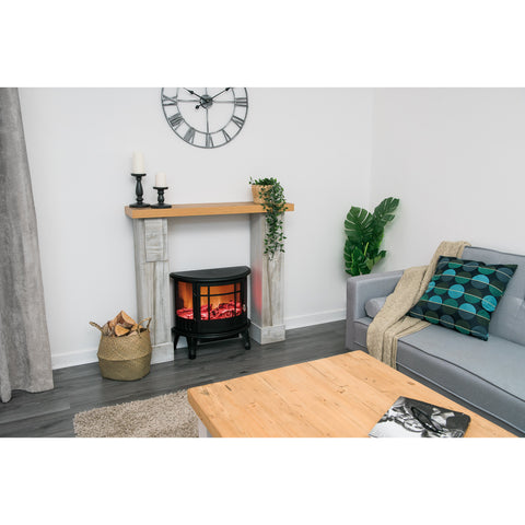 Panoramic Log Effect Stove Heater
