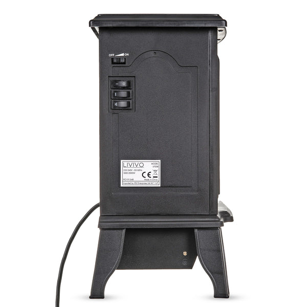 Compact Log Effect Stove Heater