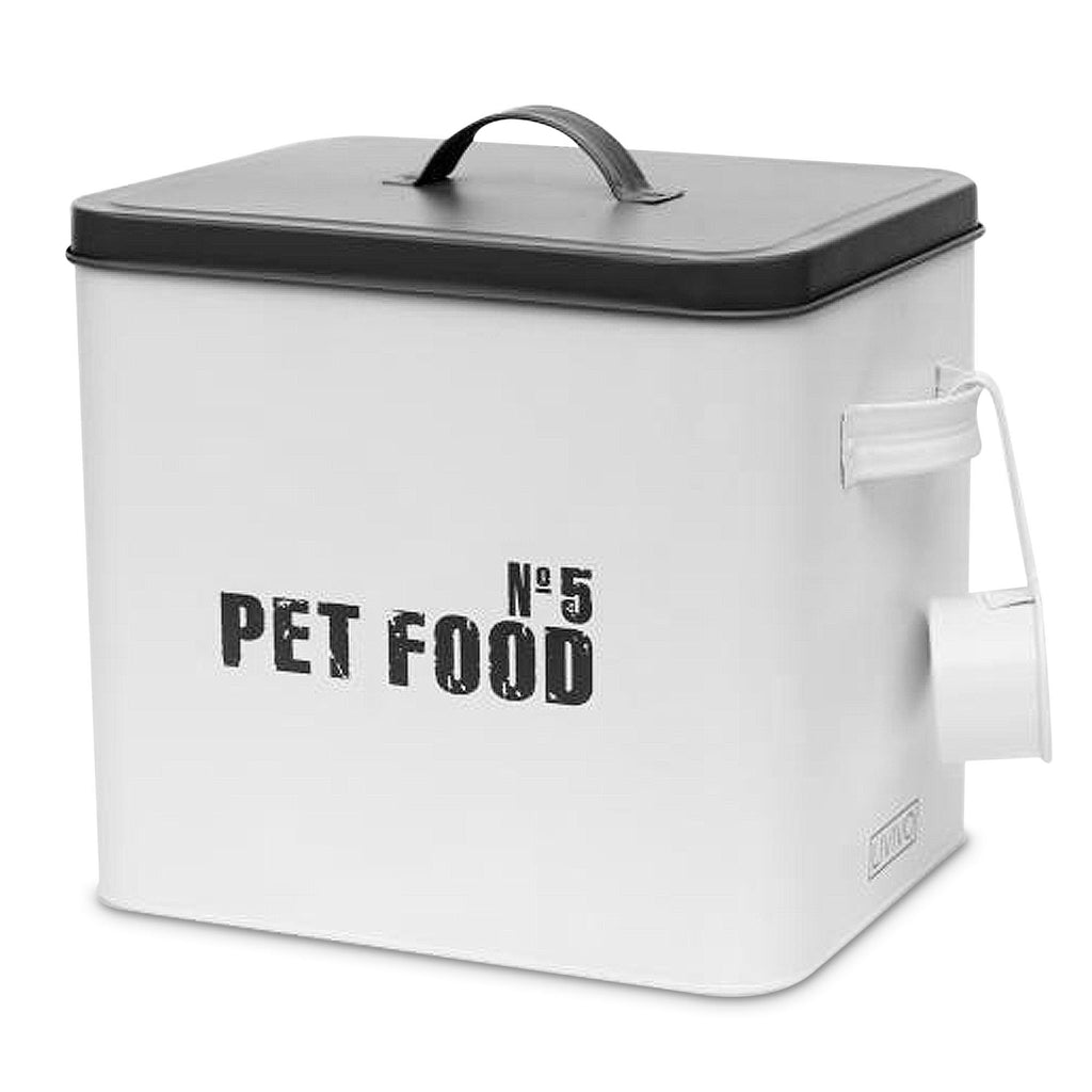 Enamel Coated Metal Pet Food Storage Box