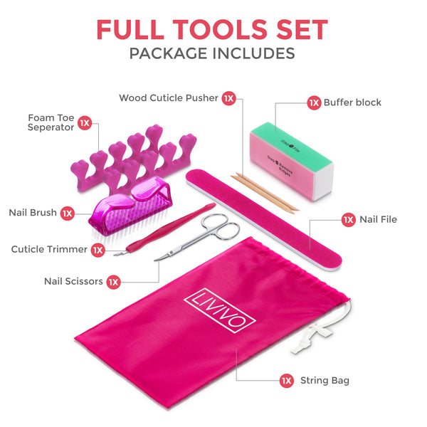 9 Piece Manicure and Pedicure Set